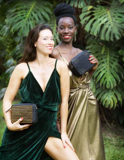 Modeller med vesker fra Nina Jarebrink x 4Africa