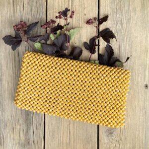 Clutch veske -shiny yellow