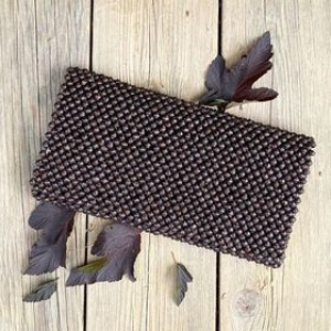 Clutch veske – Dark brown