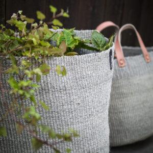 Mifuko Sisal market basket- Grey Medium