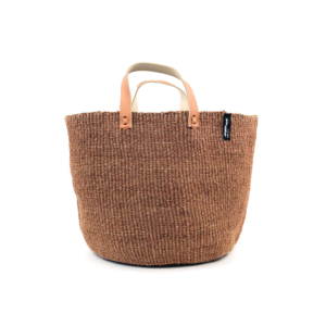 Mifuko Sisal shopper- Dark Brown Medium