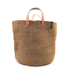 Mifuko Sisal shopper- Dark Brown Large