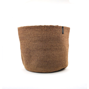 Mifuko Basket Sisal – Dark Brown Large