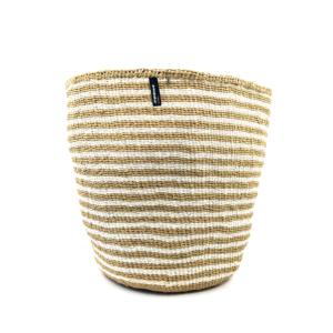Mifuko Basket – Brown and natural – Large