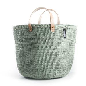 Mifuko Market basket – light green – Medium