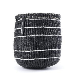 Mifuko Basket – Black with 5 striped – XS