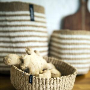 Mifuko Basket – bowl brown XS