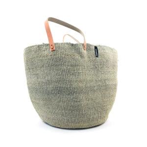 Mifuko market basket – Large- Sisal grey