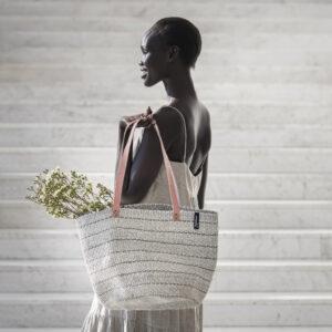 Mifuko Sisal Shopper- Twill grey medium