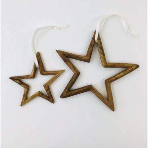 Stjerne i Jacaranda wood – XS